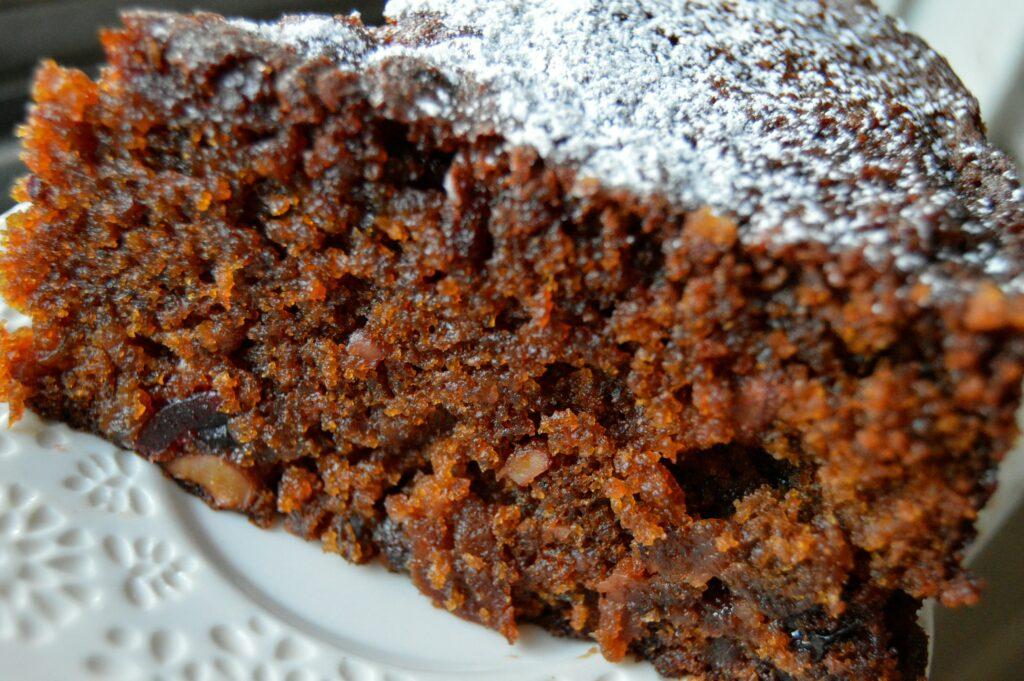 Decadent boozy Plum cake