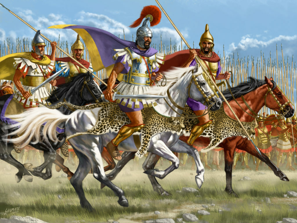 Alexander's returning army carrying back sugar- a new mysterious ingredient for Europe.