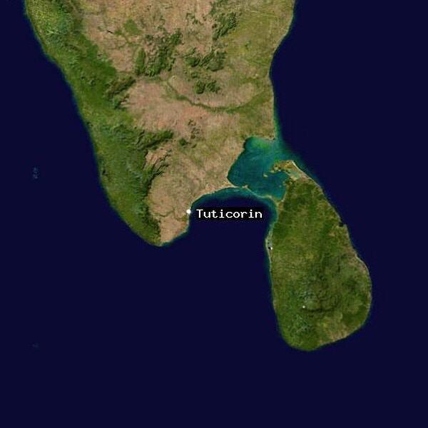 The Gulf of Mannar and Tuticorin.