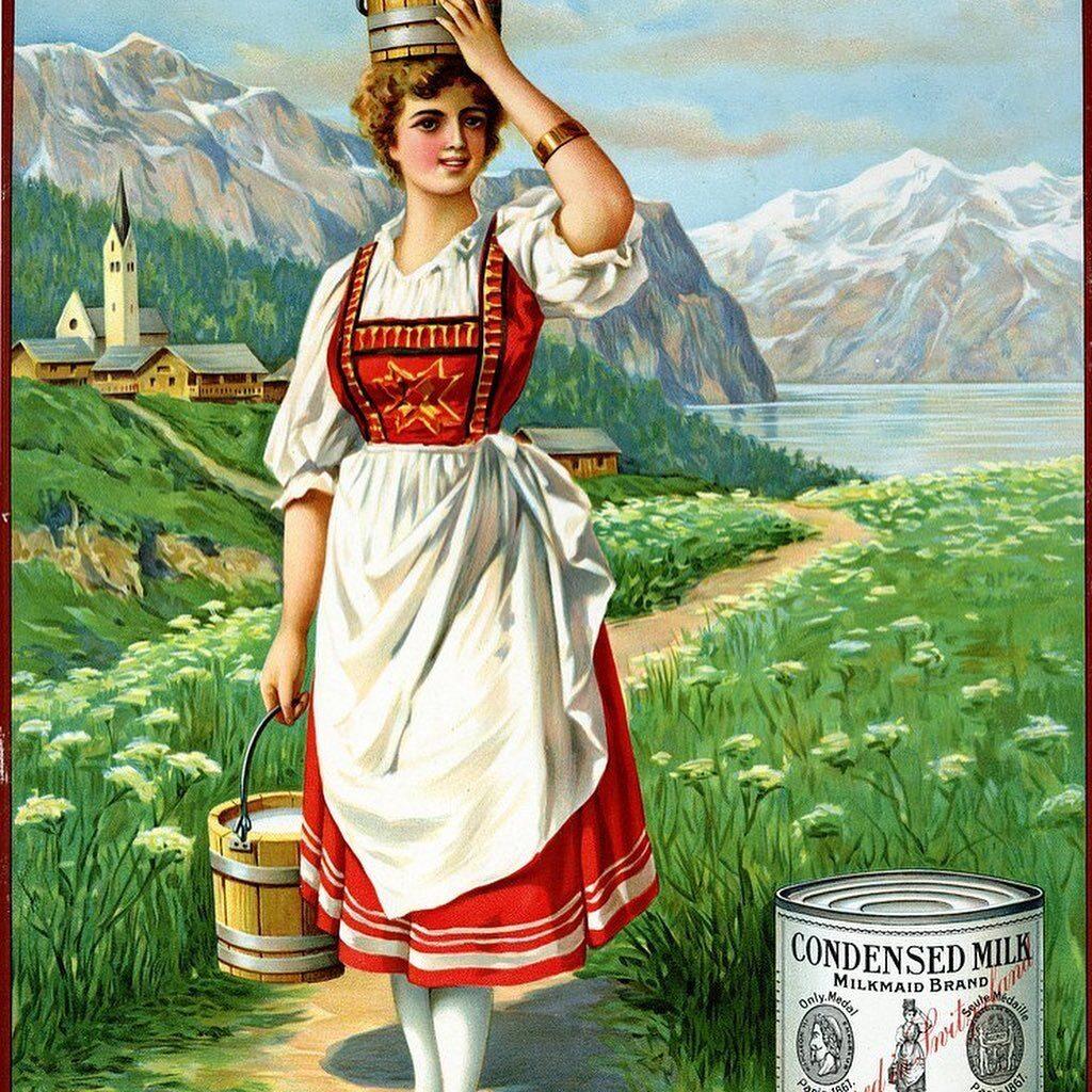 Milkmaid vintage poster